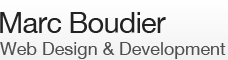 Marc Boudier, Web Design and Development